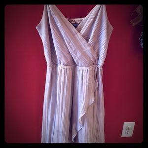 Express blush high low hem maxi dress